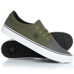 Кеды кроссовки низкие DC Trase Tx Real Grey/Black/Green