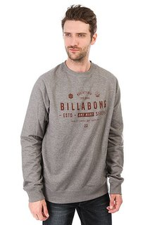 Толстовка свитшот Billabong Watcher Grey Heather