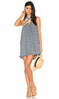 Lace trim halter neck dress - J.O.A.