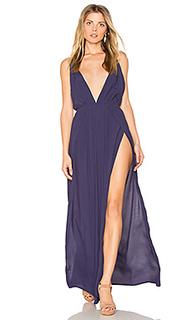 Макси платье с глубоким вырезом - BLQ BASIQ