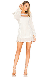 Crema silk linen dress - For Love & Lemons