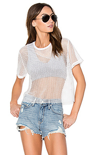 Sporty mesh tee with sports bra - MONROW