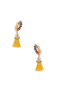 Crystal cluster drop tassel earring - Anton Heunis