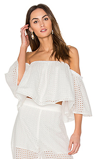 Eyelet ruffle top - BLAQUE LABEL