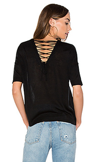 Alberta lace up back tee - John & Jenn by Line