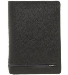Черное портмоне из натуральной кожи Picard