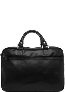 Черная кожаная сумка на молнии с двумя ручками Picard