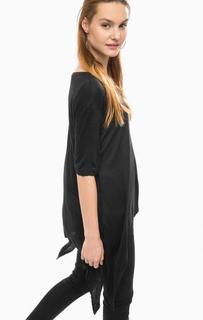Черная футболка асимметричного кроя Silvian Heach
