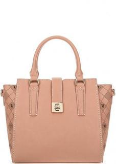 Коралловая сумка с контрастной строчкой Trussardi Jeans