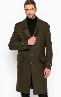 Шерстяное пальто в стиле милитари Drykorn