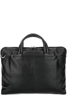 Черная кожаная сумка с короткими ручками Piquadro