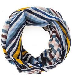 Синий шарф-хомут в полоску S.Oliver