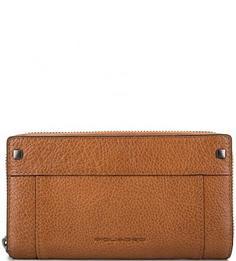 Кожаный кошелек с двумя отделами Piquadro