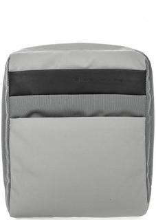 Серая текстильная сумка через плечо Piquadro