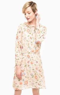 Бежевое платье с цветочным принтом Pennyblack
