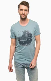 Хлопковая футболка бирюзового цвета Mavi