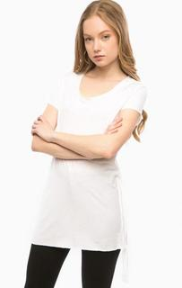 Белая хлопковая футболка Replay