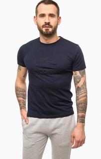 Однотонная хлопковая футболка Lacoste