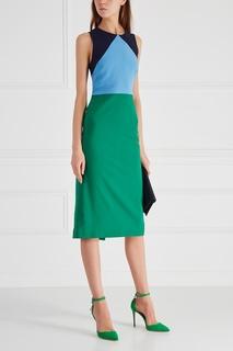Шерстяное платье-футляр Diane von Furstenberg