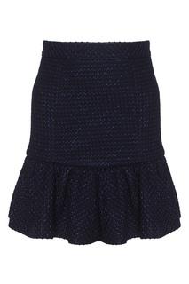 Шерстяная юбка A LA Russe