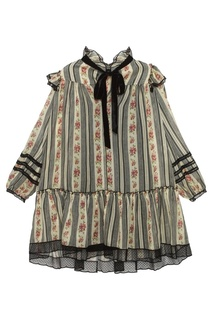 Платье из хлопка и шелка Marc Jacobs