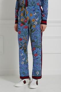 Шелковые брюки Gucci