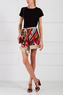 Шелковая юбка-мини Carven