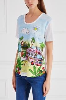 Льняная футболка Mira Mikati