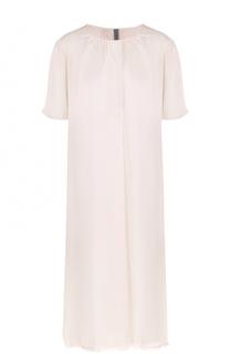 Платье прямого кроя с круглым вырезом Raquel Allegra