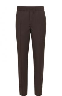 Шерстяные брюки прямого кроя с поясом на резинке Neil Barrett