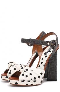 Текстильные босоножки Keira на фигурном каблуке Dolce & Gabbana