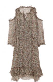 Шелковое платье с открытыми плечами и оборками Zadig&Voltaire Zadig&Voltaire