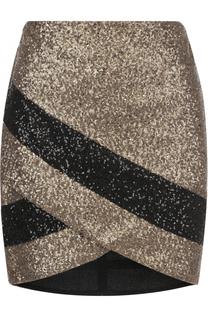 Мини-юбка асимметричного кроя с пайетками Elie Saab