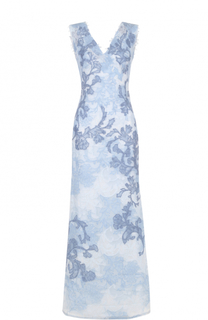 Кружевное платье-макси с V-образным вырезом Tadashi Shoji