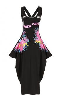 Приталенное платье-миди с ярким принтом Stella McCartney