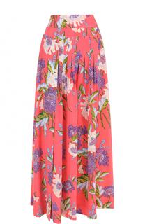 Шелковая юбка-макси с цветочным принтом Diane Von Furstenberg