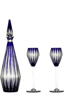 Набор из графина для вина и 2-х фужеров Memoire Baccarat
