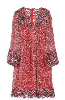 Шелковое платье с цветочным принтом Elie Tahari