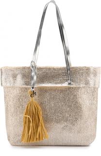 Металлизированная сумка-шоппер Deha