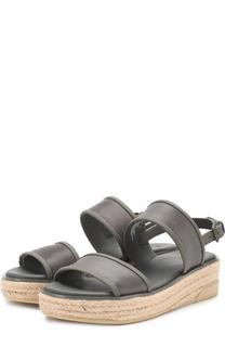 Текстильные сандалии Shana на джутовой подошве DKNY