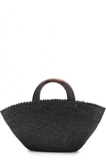 Плетеная сумка Belinda с косметичкой Eugenia Kim