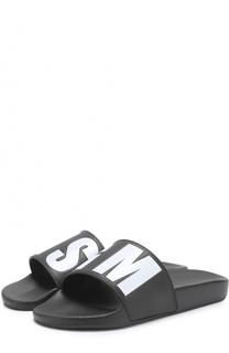 Резиновые шлепанцы с логотипом бренда MSGM