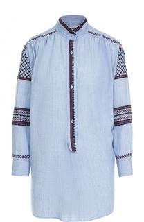 Блуза прямого кроя с контрастной вышивкой Zadig&Voltaire Zadig&Voltaire