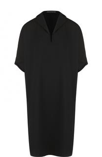 Платье-свободного кроя с отложным воротником Yohji Yamamoto