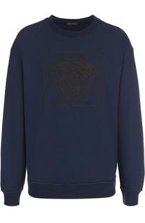 Хлопковый свитшот с логотипом бренда Versace