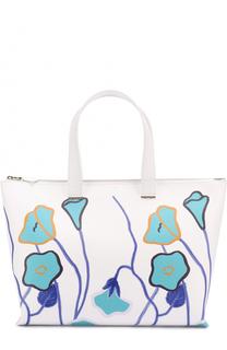 Сумка-тоут с цветочным принтом Giorgio Armani