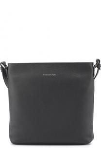 Кожаная сумка-планшет с внешним карманом Ermenegildo Zegna