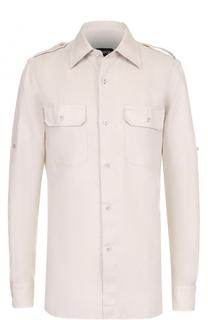 Льняная рубашка с накладными карманами Tom Ford
