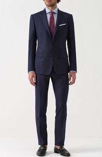 Шерстяной костюм с пиджаком на двух пуговицах Dolce & Gabbana