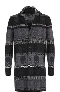 Удлиненный льняной пиджак с отложным воротником Gemma. H